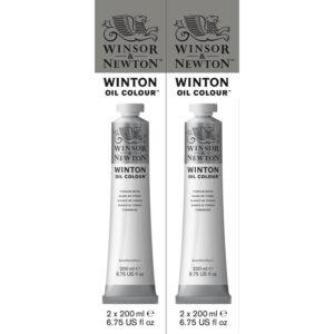 Colore ad olio fine Winsor&Newton 200 ml bianco titanio (644) – 2 pezzi