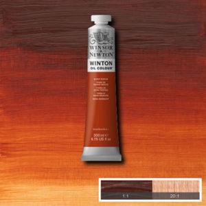 Colori ad Olio Winsor&Newton Terra di Siena Bruciata (074) tubo da 200 ml