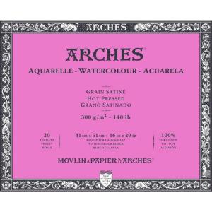 Arches Aquarelle – Blocco da Disegno per Acquarelli Grana Satinata cm 41×51