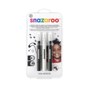 Snazaroo Balck & White Makeup Brush Pen – set da 3