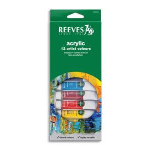 Reeves Confezione Acrilici 12 Tubi 10ml
