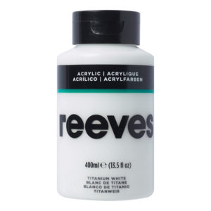 Reeves Acrylic Titanium White 400ml