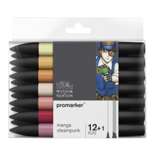 Winsor & Newton Promarker – 12+1 pennarelli Manga Steampunk