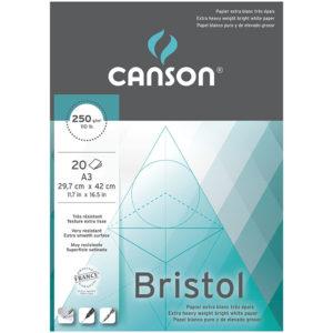 Carta da disegno Bristol Graphic Arts, 20 fogli, colore: bianco