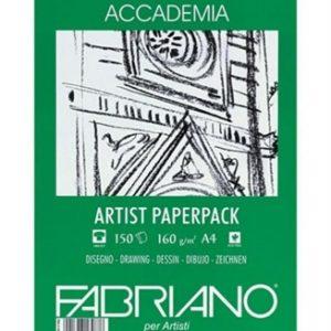 Accademia artist paper pack – risma Fabriano 160 gr 75 fogli