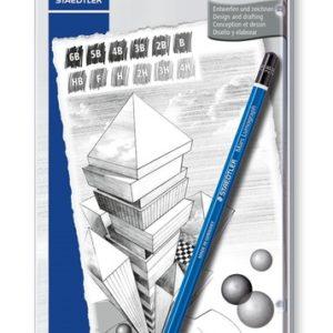 STAEDTLER mars lumograph – matite grafite set da 12