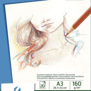 Canson album Drawing Dessin – 160gr A3 da 20 fogli