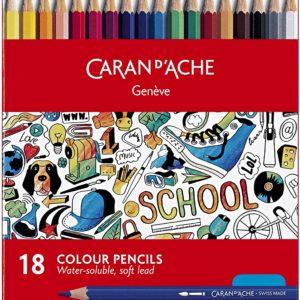 Caran D'ache colour pencils for school – set da 18