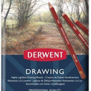 Derwent Drawing matite colorate scatola in metallo – disponibile da 12 e da 24