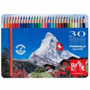 Caran D'ache Prismalo matite acquerellabili – confezione in metallo da 30