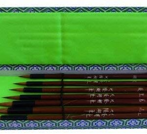 Chinese calligraphy set –  7 pennelli manico in bamboo