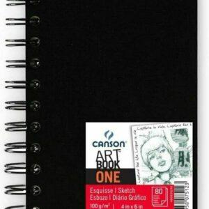 Canson Art Book One – 100 gr da 80 fogli spiralato formato A4