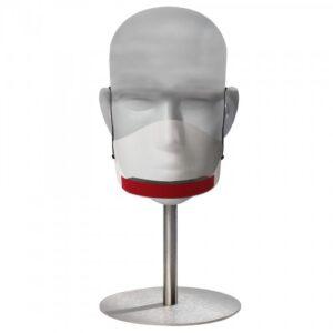 Mascherina trasparente in plastica – con spugna sul mento.
