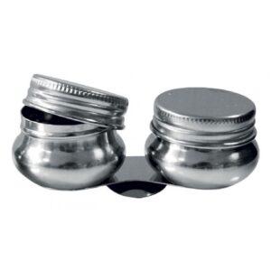 Scodellini in metallo per tavolozza