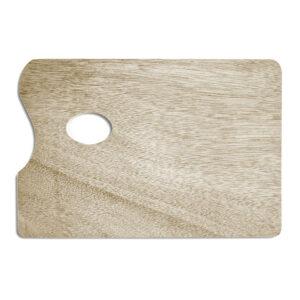 Tavolozza di legno rettangolare
