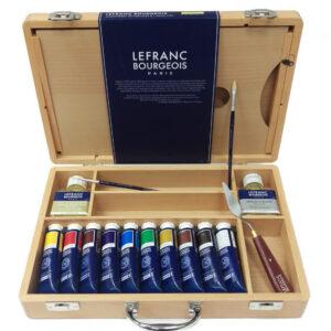 Lefranc and Bourgeois Valigetta – Cassetta in legno con colori ad olio