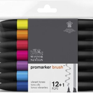 Promarker Brush – Toni vibranti – set da 12+1